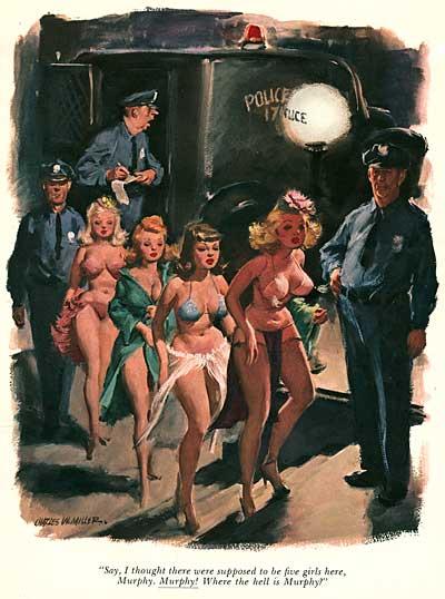 50s Playboy Cartoonist Charles W Miller