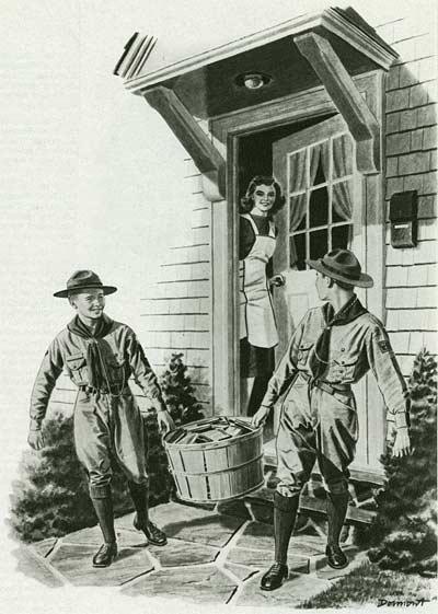 Wartime Colliers Magazine Illustration