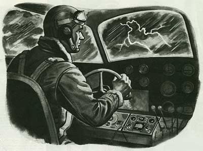 Wartime Colliers Magazi ne Illustration