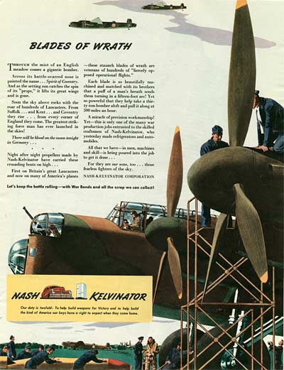 Wartime Colliers Magazine Illustration