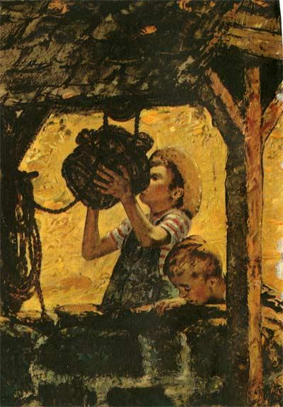 Illustration in Coronet Magazine