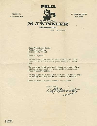 Charles Mintz Letter