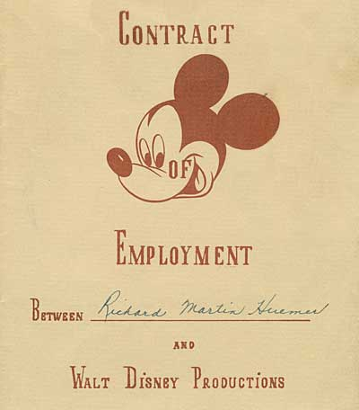 Dick Huemer Contract