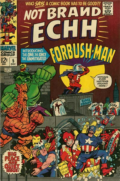 Jack Kirby Marvel Not Brand Echh