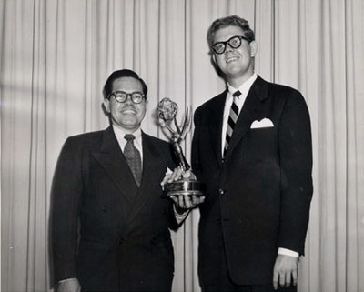 Voice Actors Daws Butler and Stan Freberg