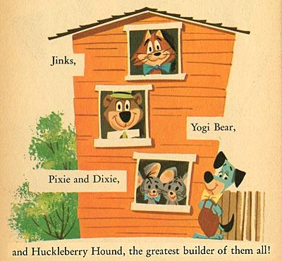 Huck Hound Builds A House