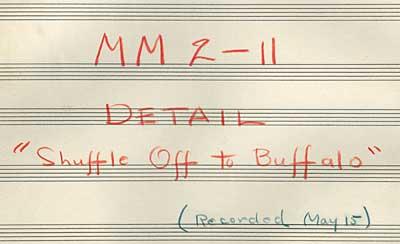Shuffle Off To Buffalo Bar Sheets