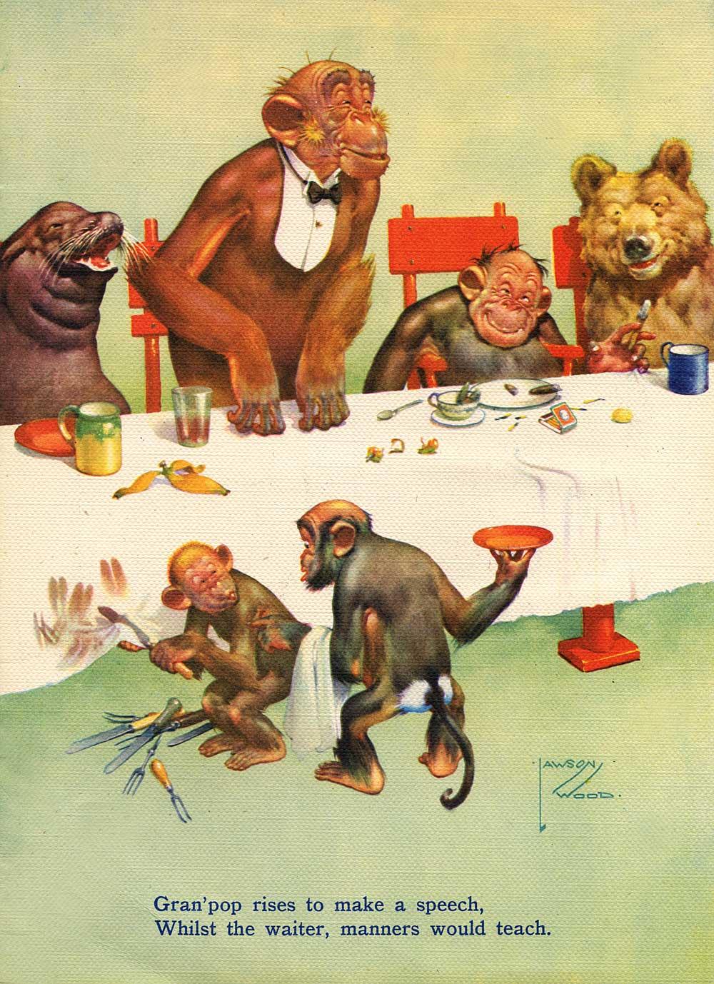 illustration lawson wood the monkey painter