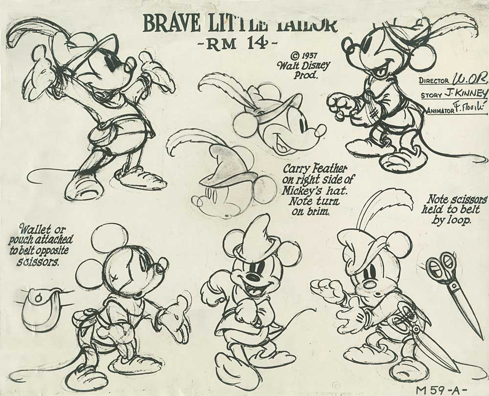 Design Mice And Duck Model Sheets AnimationResources