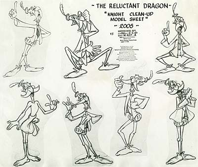 Reluctant Dragon Model Sheets