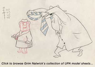 Click to see Grim's  UPA model sheets