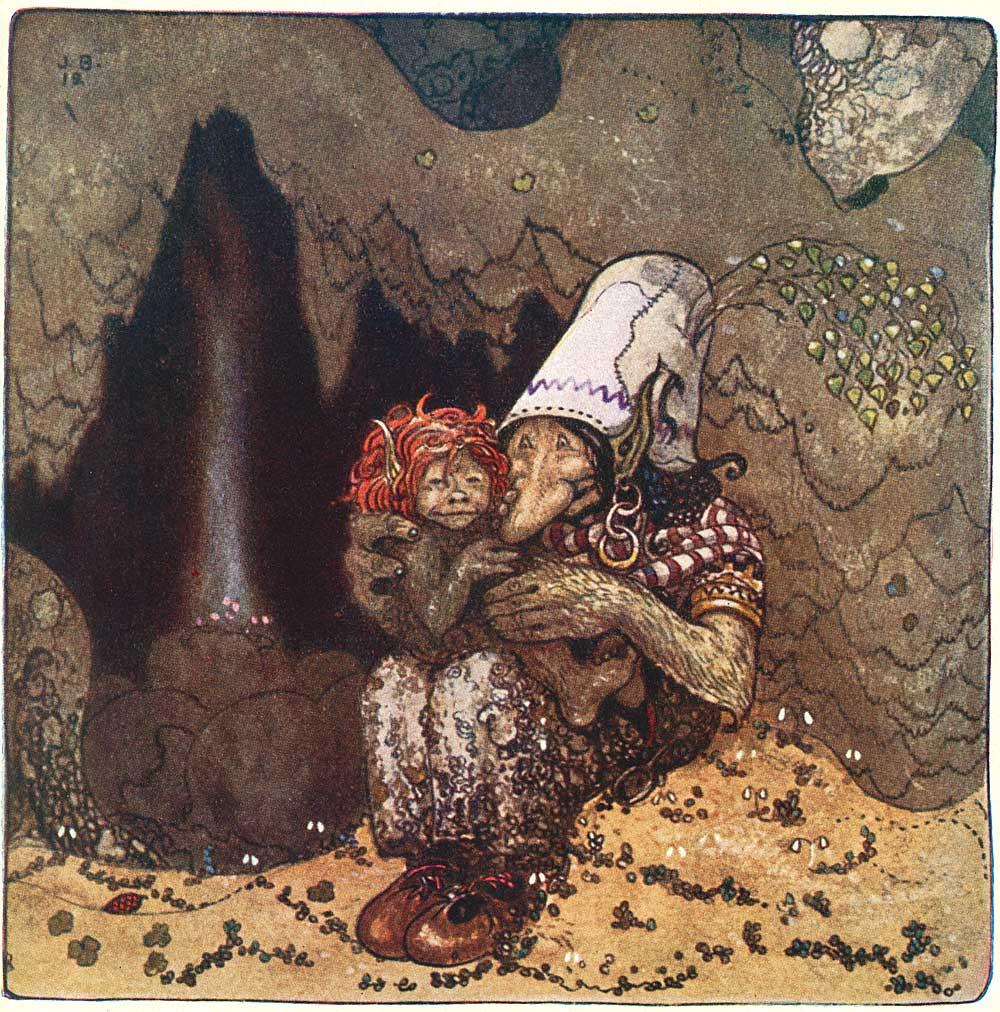 Art Illustration: Illustration: John Bauer's Bland Tomtar Och Troll