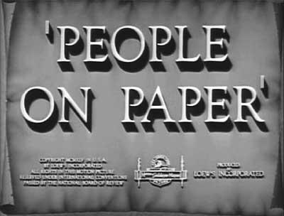 Cartoonists People On Paper