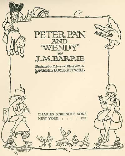 Mabel Lucie Attwell Peter Pan and Wendy