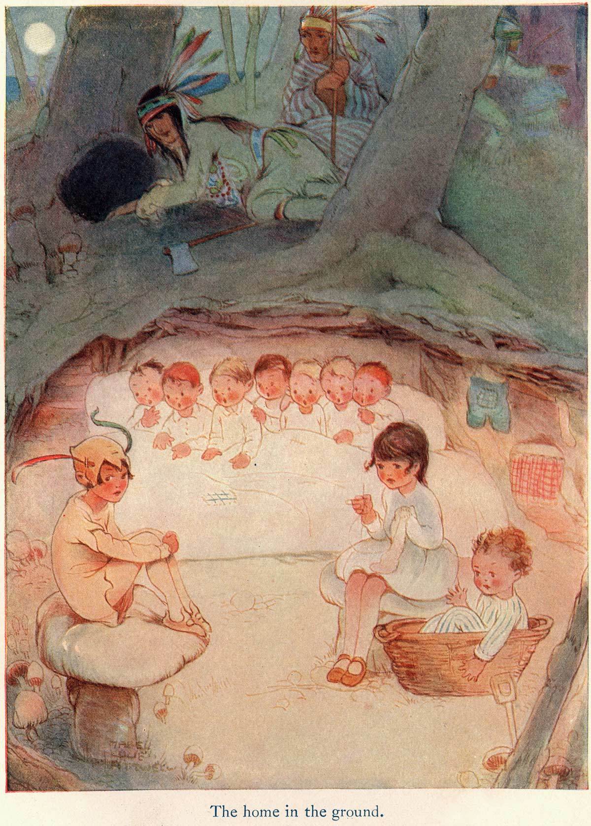 Illustration Mabel Lucie Attwell S Peter Pan And Wendy