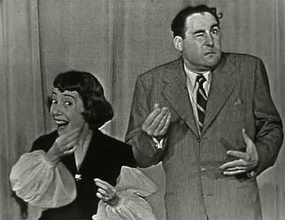 Sid Caesar and Imogene Coca Pantomime