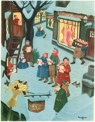Gustaf Tenggren Sing For Christmas
