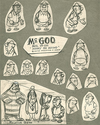 Character Design Upa : Exhibit early s upa model sheets animationresources