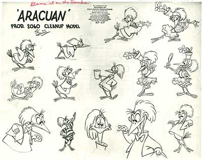 Araucuan Bird Model Sheet