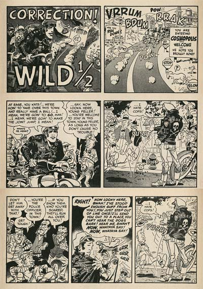 Wally Wood in Mad magazine Brando Wild One