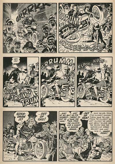 Wally Wood in Mad magazine Brando Wild One