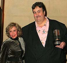 Stephen Worth and June Foray